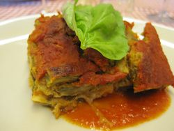 Lasagna with Sabato's amazing sauce