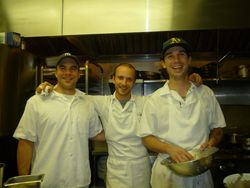 Matt, chef David Gould and Dominic